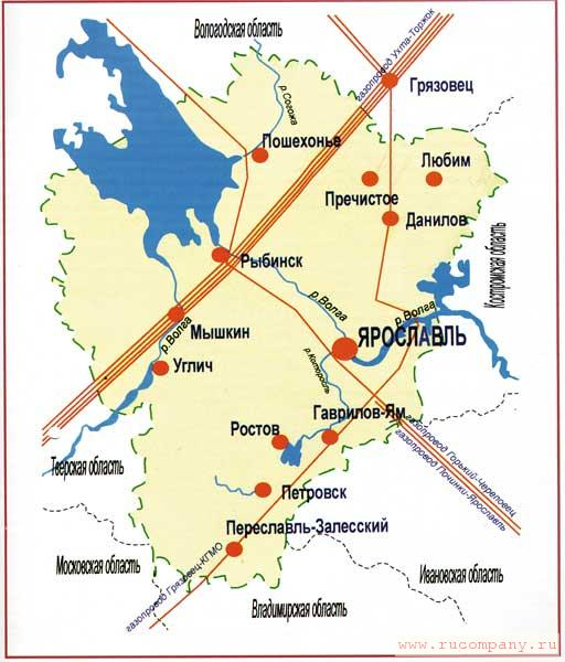 Карта-план газификации